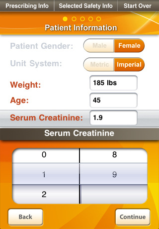 Dosage Calculator for INTEGRILIN