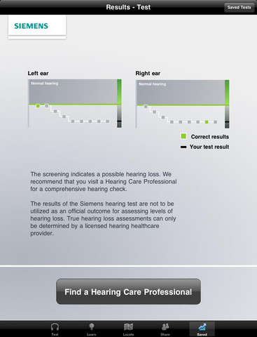 Siemens Hearing Test for iPad