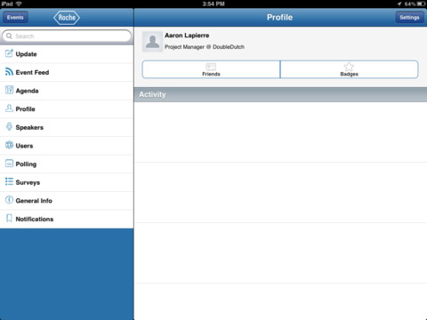 Roche Events 2012 for iPad