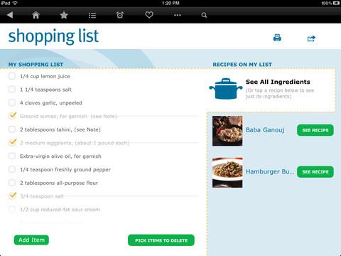 Recipes 2 Go for iPad