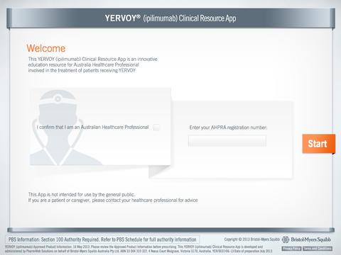 YERVOY® (ipilimumab) Clinical Resource App