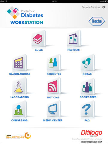 Workstation Diabetes Roche for iPad