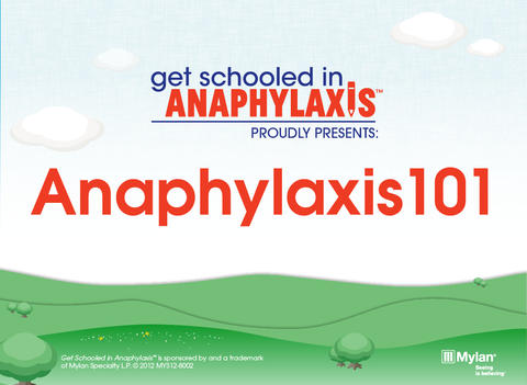 Anaphylaxis101 for iPad