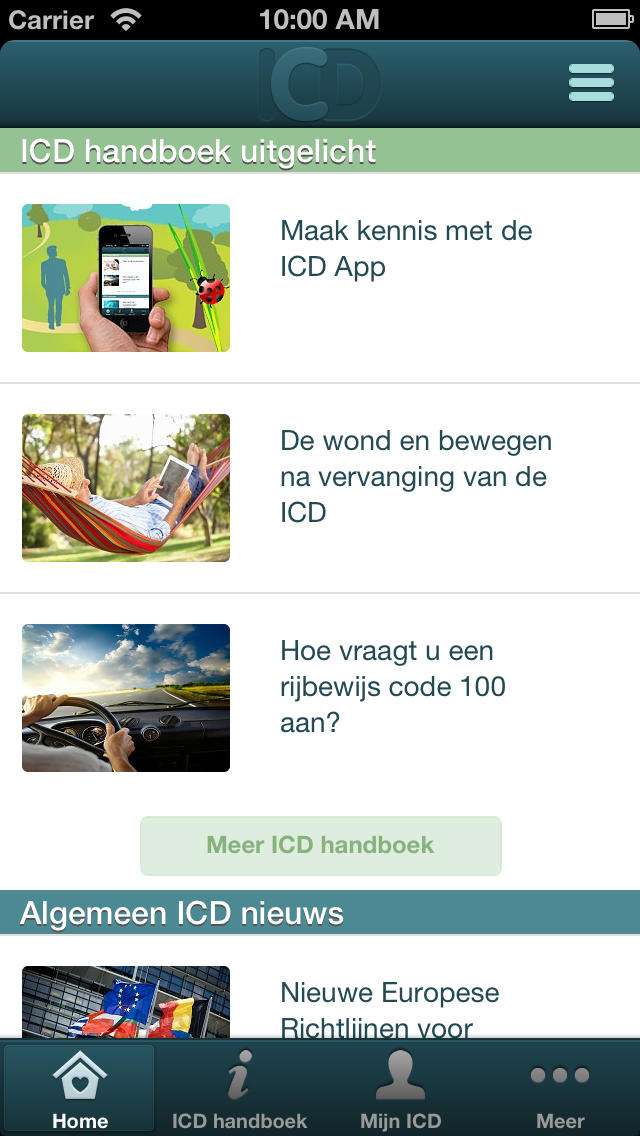 ICD App for iPhone