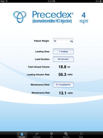 Precedex - Dexmedetomidine for iPad