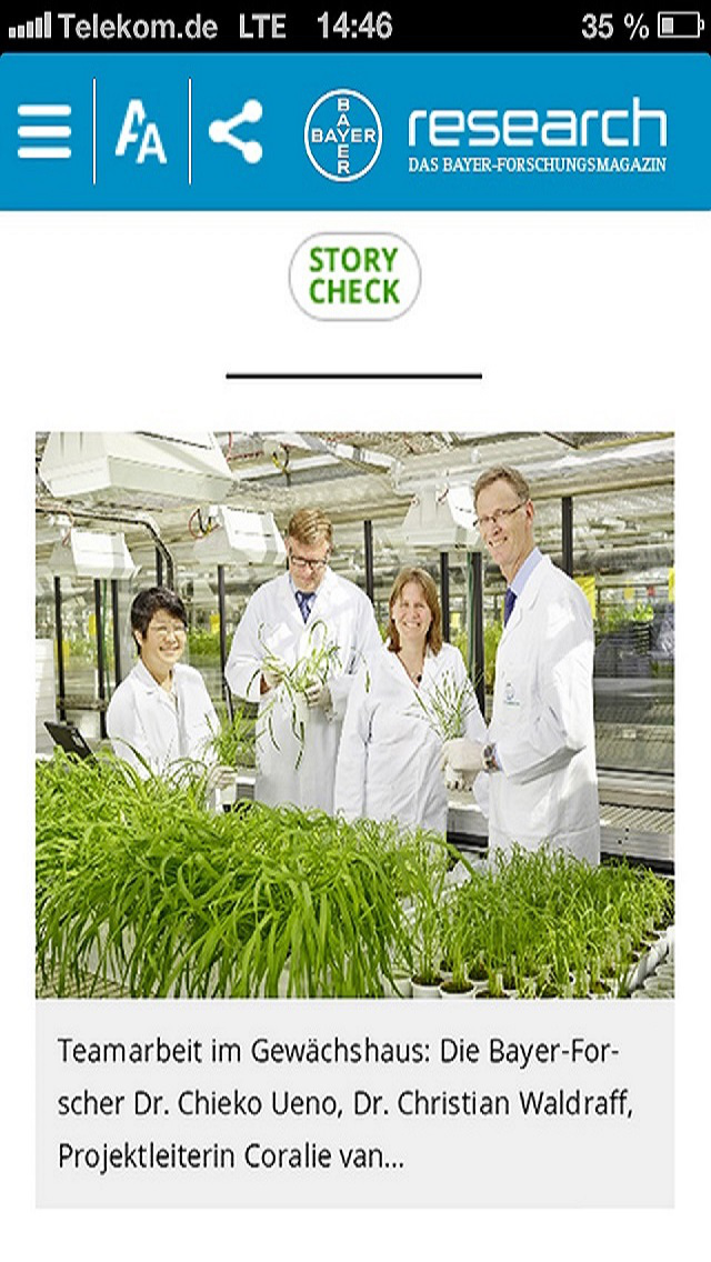 Research - das Bayer-Forschungsmagazin for iPhone