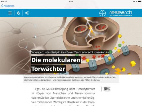 Research - das Bayer-Forschungsmagazin for iPad