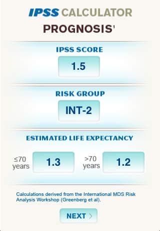 IPSS Calculator International for iPhone