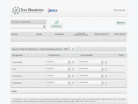 Testes Diagnostico PND for iPad
