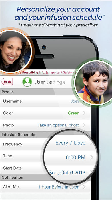 MyHizentra™ Infusion Manager for iPhone