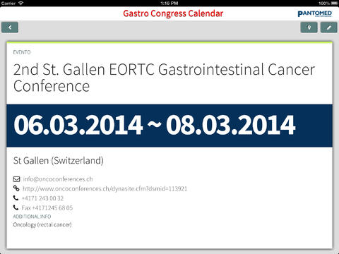 Gastro Congress App for iPad
