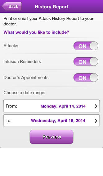 HAE Therapy Tracker for iPhone