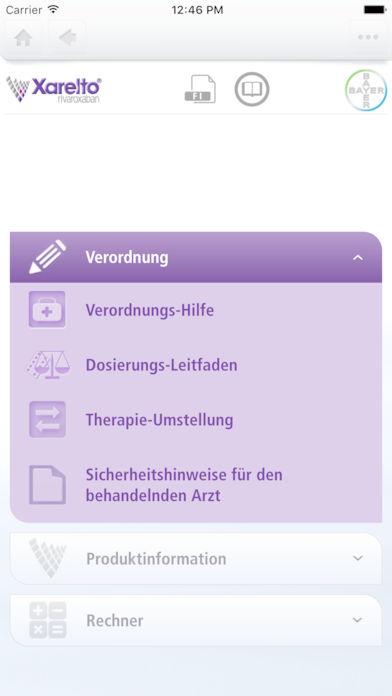 Xarelto Ärzte App for iPhone