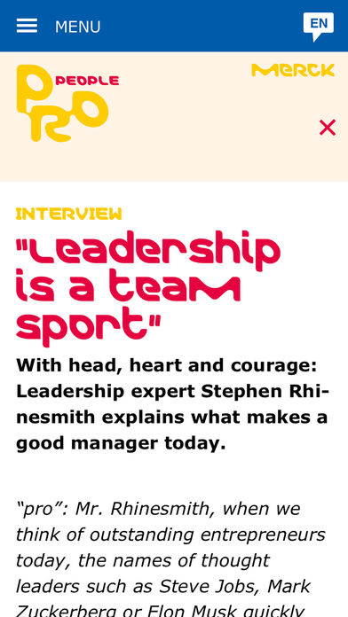Merck Magazine for iPhone