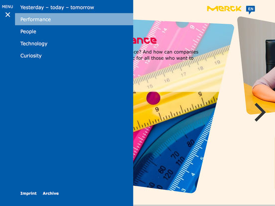 Merck Magazine for iPad