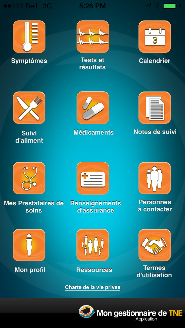 MyNETManager – Application patient for iPhone
