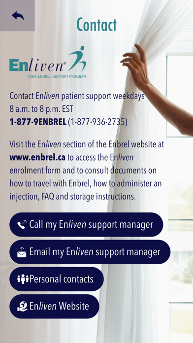 Enliven Patient Support App for iPhone