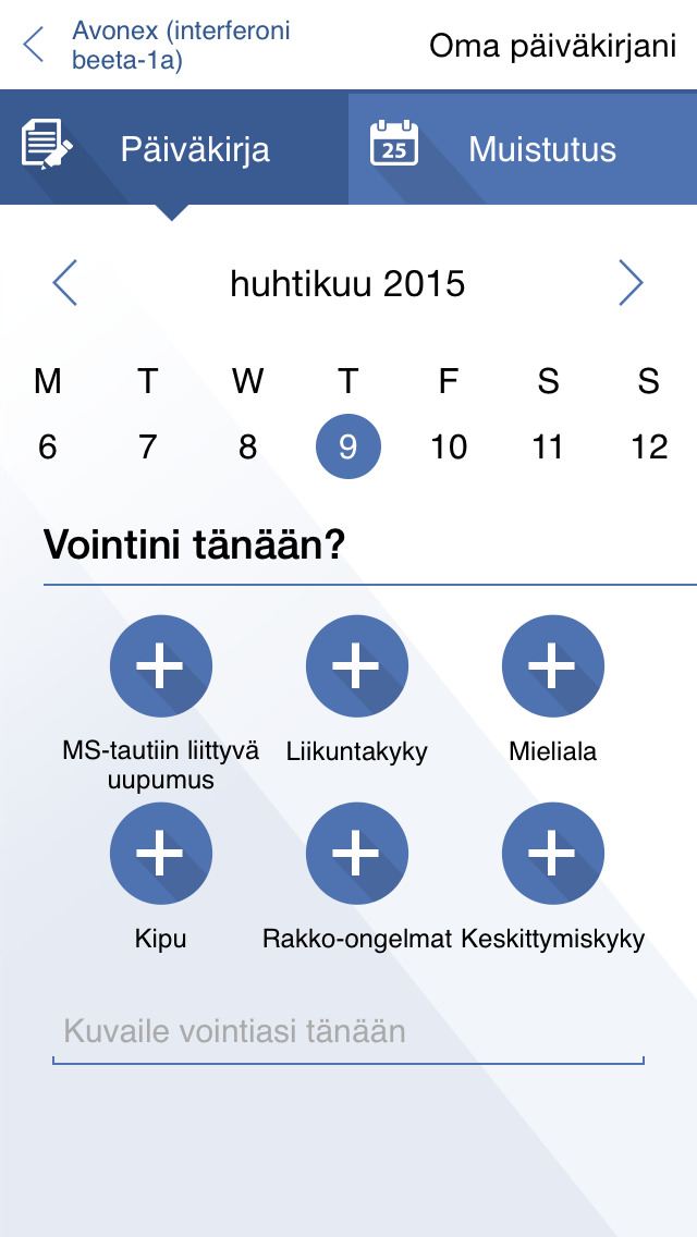 MS-Päiväkirja for iPhone