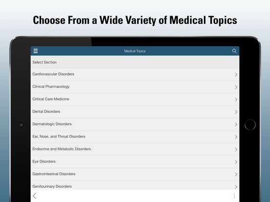 MSD Professional Version for iPad