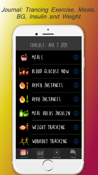 DiaBeatMove - 24/7 Diabetes Control by Nutrition, Exercise and Connected Blood Glucose Monitors for iPhone