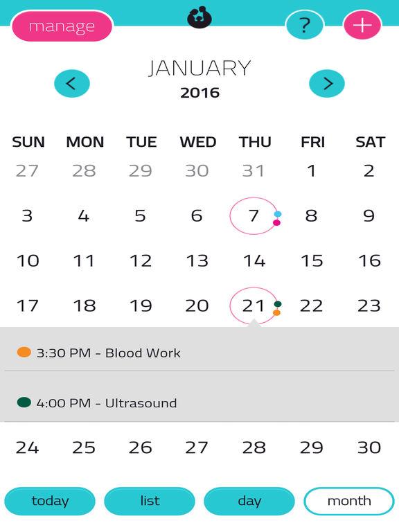 Fertility Tracker App for iPad