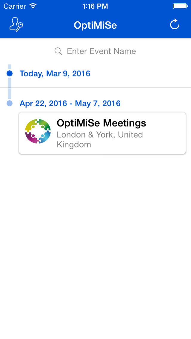 OptiMiSe Meetings for iPhone