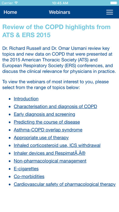 COPD Congress for iPhone