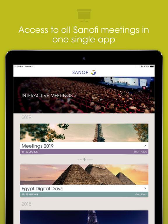 Sanofi Interactive Meetings - Egypt for iPad