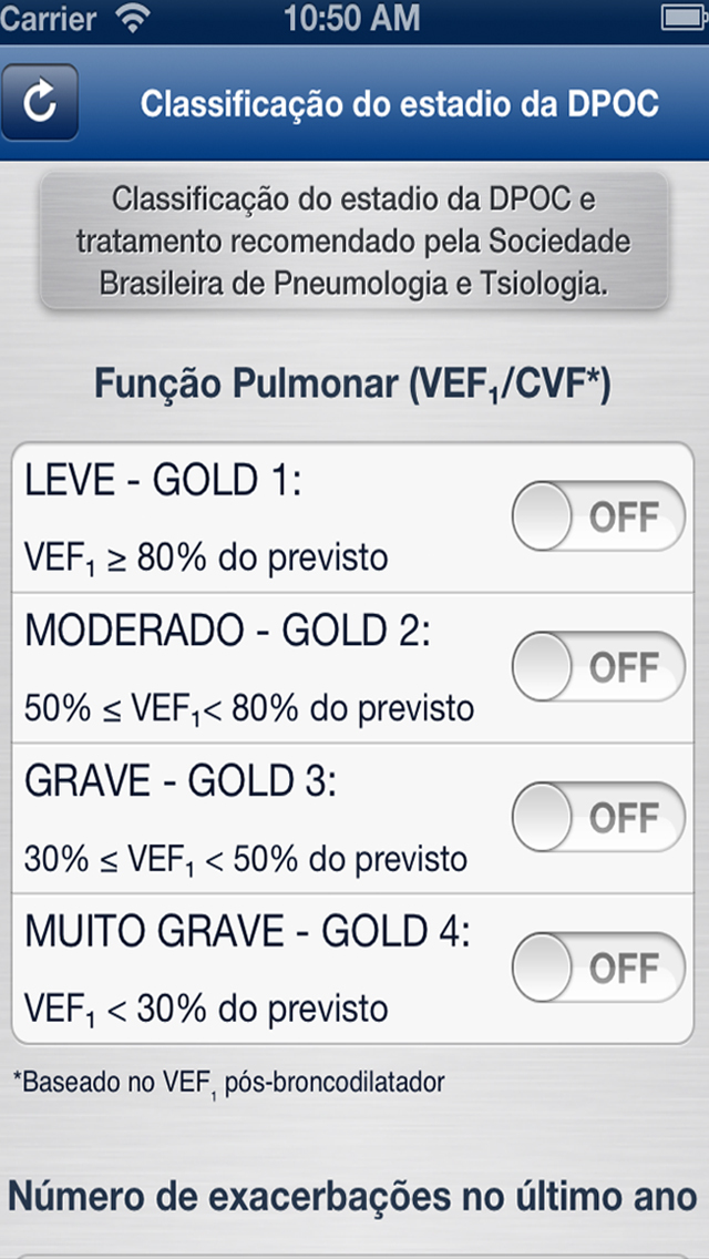 Calculadora DPOC for iPhone
