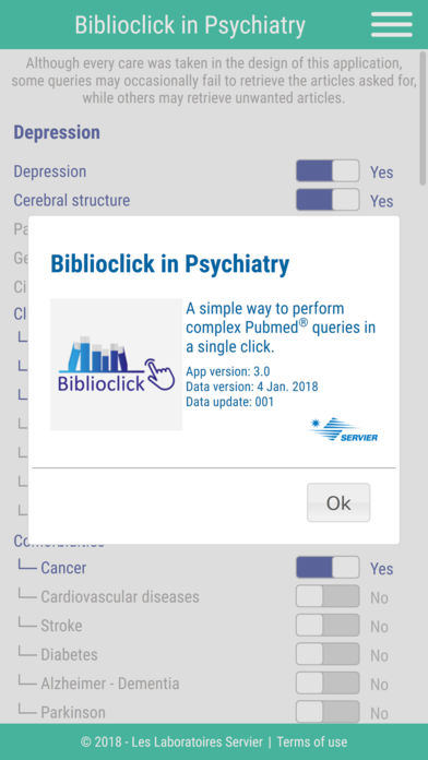 Biblioclick in Psychiatry for iPhone