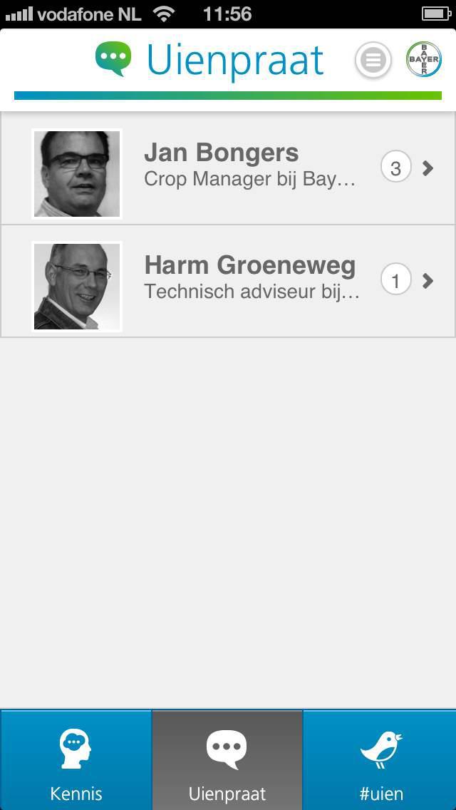 Uien Kennis App for iPhone