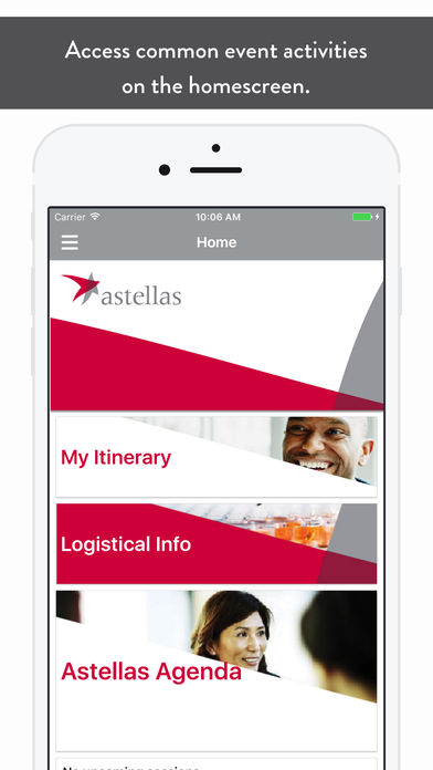 Astellas EMEA Events App for iPhone