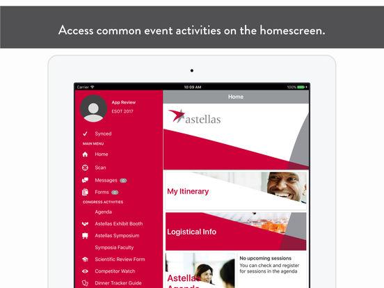 Astellas EMEA Events App for iPad