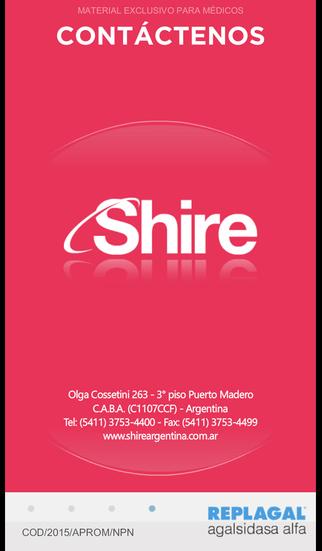 Aplicación Replagal® - Shire Argentina for iPhone