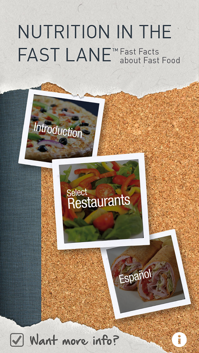 Nutrition in the Fast Lane for iPhone