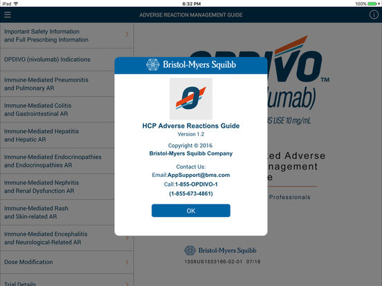 HCP Safety App for iPad