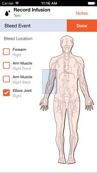 HemoTrax for iPhone