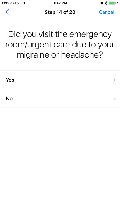 Amgen Migraine Tracker for iPhone