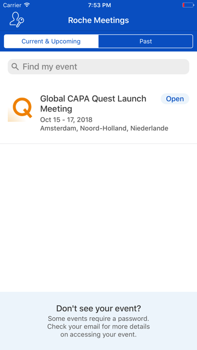 Roche Global Meetings for iPhone