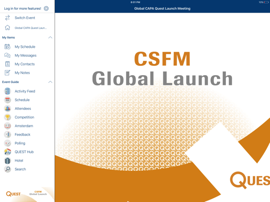 Roche Global Meetings for iPad