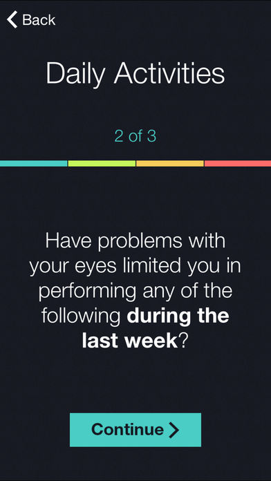 Dry Eye OSDI Questionnaire for iPhone