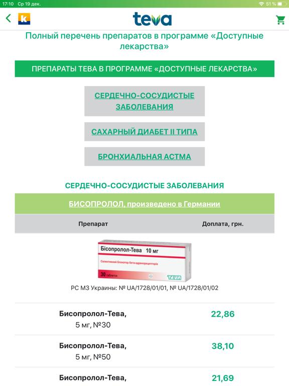 Teva-Компендиум for iPad