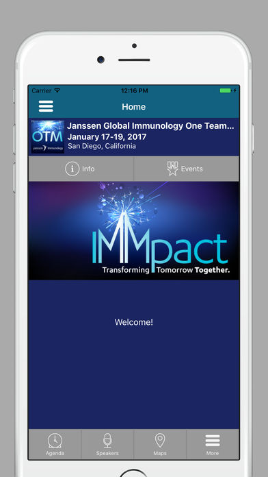 Janssen Global Immunology One Team Meeting 2017 for iPhone
