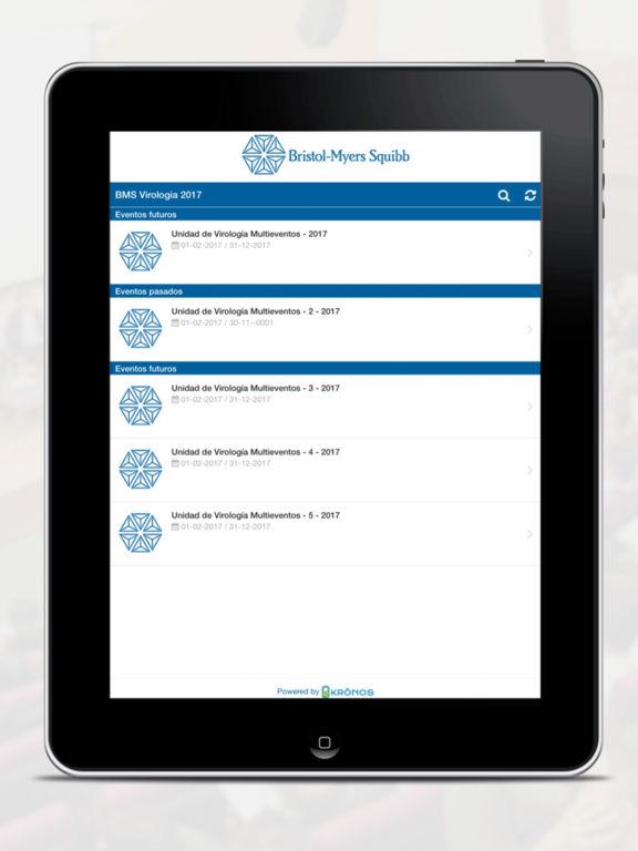 EVENTOS BMS VIROLOGíA for iPad