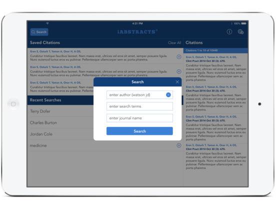 iAbstracts for iPad for iPad