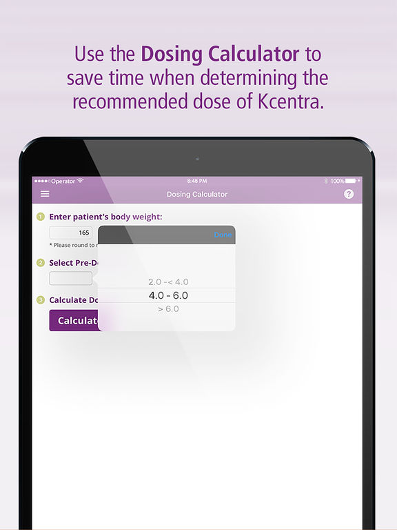 Kcentra Quick Guide for iPad