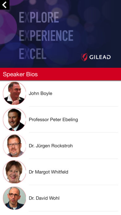 Gilead Meeting 2017 for iPhone