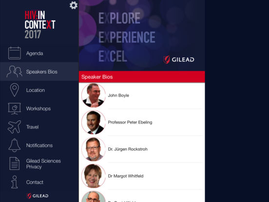 Gilead Meeting 2017 for iPad