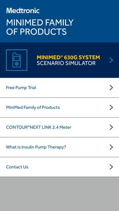 MiniMed 630G System Scenario Simulator for iPhone
