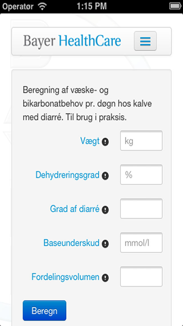 Kalverehydrering for iPhone